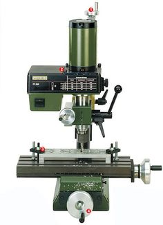 The Mill/Drill Head PF 230 converts your Lathe PD into a machining center. It comes including the necessary mounting bracket and bolts to attach it to the Lathe PD Three collets are included. Technical - speeds 280 - 550 - 870 - - and NO 34 104 Se Metal Working Machines, Metal Working Tools, Precision Scale, Precision Tools, Benchtop Milling Machine, Micro Lathe, Custom Leather Holsters, Mechanical Engineering Design, 3d Cnc