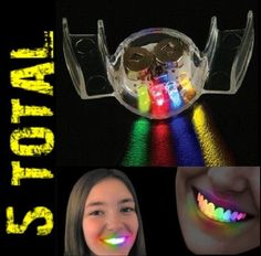 (5) Led Flashing Mouth Lights Multi Bright Fun Colors ~ Party Glow Blinking Toy #NoveltyFlashingLedMouthLights