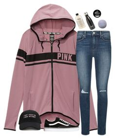 """what i got for christmas ( in d )"" by typical-lizzie ❤ liked on Polyvore featuring Victoria's Secret, Paige Denim, Forever 21, Vans, philosophy and S'well"