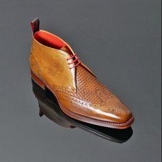 Dexter - 'Prado' Punch Weave Chukka in Mahogany Calf. Also available in Brown Calf and Brown Nubuck. #prado #dexter #chukka #boots #shoes #fashion #mens #alternative