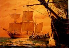 FIRST FLEET SHIPS. Has a collection of paintings of the First Fleet ships