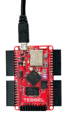 Tessel : a microcontroller that runs JavaScript. It's Node-compatible and ships with Wifi built in. Use it to easily make physical devices that connect to the web.