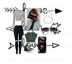 """""""Tuesday outfit"""" by camaro1992 on Polyvore featuring Miss Selfridge, Converse, CÉLINE, NA-KD, LOFT, Skinnydip and Quay"""