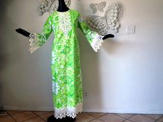 Vintage 70s Lilly Pulitzer Hippie Boho Maxi Dress by elliemayhems, $229.00