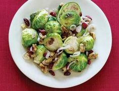 Brussels Sprouts with Walnuts and Dried Cranberries