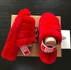 Shop the look for only 2019 Ugg Slide Slippers Ugg Sandals, Ugg Shoes, Shoe Boots, Cute Uggs, Fluffy Shoes, Fresh Shoes, Hype Shoes, Girls Shoes, Me Too Shoes