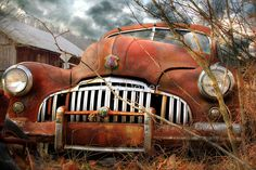Sharon and I found this old abandoned car along Sugar Run Road, a very rural road in Perry County, Pennsylvania (near Millerstown), USA. It took a while, but I finally figured out that it is a 1946 Buick Super. / HDR image – photomatix pro / 3 exposures: -2, 0 +2 / Layers (sky added) & editing in Photoshop / Canon EOS 60D, 18-135 mm lens / Stats: 11/14/11 ~ 1,291 views, 57 favs / Thank you for the Features: / * 11/21/...