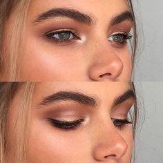 49 Natural Smokey Eye Makeup Looks Outstanding – Makeup is art Bronze Makeup, Glowy Makeup, Eye Makeup Tips, Smokey Eye Makeup, Hair Makeup, Makeup Ideas, Makeup Set, Party Makeup, Natural Summer Makeup