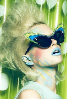 """Neon Deluxe"" | Model: Alyona Subbotina, Photographer: Yossi Michaeli, Dazed & Confused Korea, March 2012"
