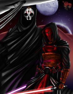 Never Forgotten by TyrineCarver.deviantart.com on @deviantART Darth Nihilus and Darth Revan, from the Knights of the Old Republic games