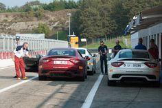 Pit lane. #Maserati