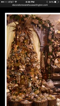 Gaudy Christmas tree with leopard and feathers