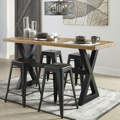 Laurel Foundry Modern Farmhouse Fabien Counter Height Dining Table