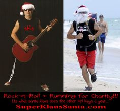 super klaus santa aka: super klaus santa, singer song writer and running santa klaus for good causes