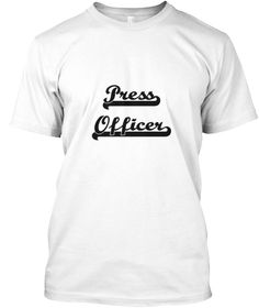 Press Officer Artistic Job Design White T-Shirt Front - This is the perfect gift for someone who loves Press Officer. Thank you for visiting my page (Related terms: Professional jobs,job Press Officer,Press Officer,press officers,public relations,public relations j ...)