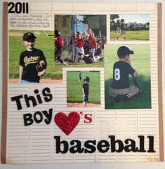 baseball scrapbook layouts | Baseball layout page