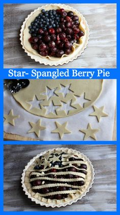 Star Spangled Berry Pie #recipe