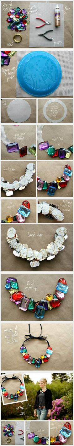 Wire wrapped stone necklace | DIY Stuff
