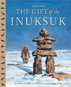 (Picture Book) A young girl in Nunavut builds stone men, called Inuksuk, to direct her father and brother home when they are lost. Inuit People, First Nations, Book Club Books, Canada, Landscape, World, Illustration, Gifts, Kids