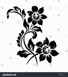 Find Flower Motif Design stock images in HD and millions of other royalty-free stock photos, illustrations and vectors in the Shutterstock collection. Thousands of new, high-quality pictures added every day. Wall Painting Decor, Stencil Painting, Fabric Painting, Flower Motif, Lotus Flower Art, Stencil Patterns, Stencil Designs, Plasma Cutter Art, Rose Stencil