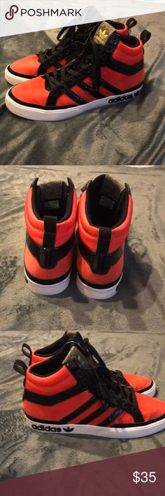Adidas Originals Top Court  Infrared Part of the Adidas Camo Pack They feature camo on the interior and on the tongue  EUC Any marks are shown in pictures adidas Shoes Athletic Shoes