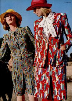 1972's fashion. You can tell the 60's generation was still stoned when they came up with this crap!