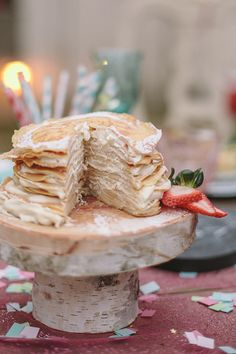 Crepe Cake with Marscapone Cream Filling {perfect for #Valentine's Day}