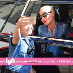 Amber Rose @amberrose: Ive partnered with Lyft to provide all my followers with $50 in FREE ride credi Floyd Mayweather, Amber Rose, Followers, Mirrored Sunglasses, Hollywood, Sports, Free, Fashion, Hs Sports