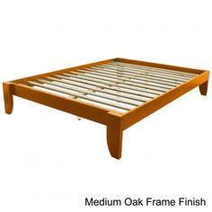 US $257.44 #platformbed #queenframe Best Selling Queen Platform Bed Frame Elevated Bamboo Wood Bedroom Transitional