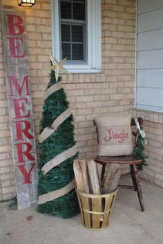 10 christmas front porch ideas on the cheap, christmas decorations, crafts, diy, gardening, home decor