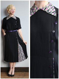 1940s Dress // Sweet Surprise Dress // vintage by dethrosevintage