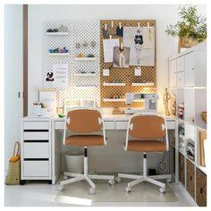 MICKE Ladeblok op wielen, wit, 35x75 cm - IKEA Ikea France, Ikea Micke, Cosy Home, White Desks, Drawer Unit, Types Of Flooring, Clever Design, Diy Desk, Desk Tidy
