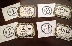 pick party date while at open house-pick a card. Party date has to be within the month