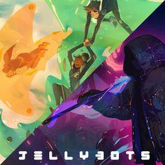 Jellybots - #JellyJam (new on Patreon!), Nicholas Kole on ArtStation at https://www.artstation.com/artwork/GWRqQ