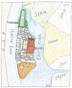 <em>Zip Code Map</em>, 1994. Pencil, crayon, colored pencil, and collage on paper, 13 ½ x 11 in. 14 x 11 in. Saul Steinberg Papers, Beinecke Rare Book and Manuscript Library, Yale University.