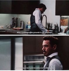 Tony is like the half annoyed/ half  amused stepdad of the avengers