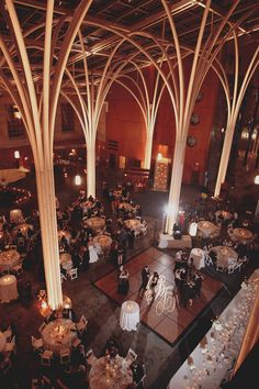 One of the most dramatic and gorgeous venues I've seen with a little rustic flair!