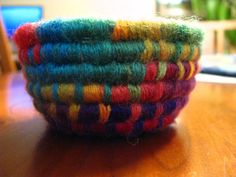 Rainbow Colored Mini Basket by TundraTalents on Etsy, $10.00