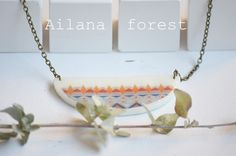 www.analiaquintana.blogspot.com Necklace porcelain handmade and illustration  ailana