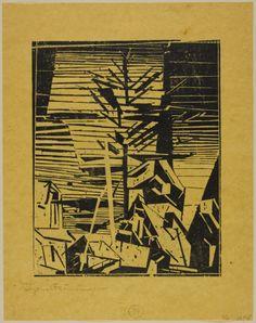 Gelmeroda with the Fir Tree | The Art Institute of Chicago Lyonel Feininger American, 1871-1956 Gelmeroda with the Fir Tree, 1918