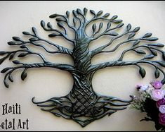 Your Shop - Manage Listings - Etsy Metal Tree Wall Art, Metal Wall Decor, Hanging Wall Art, Metal Art, Tree Wall Decor, Wall Art Decor, Drums Art, Steel Drum, Metal Birds
