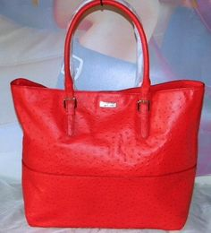 Kate Spade Shana Ostrich Leather tote
