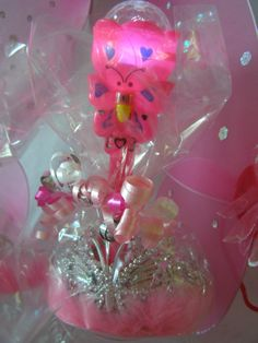 Princess Party Favor ideas. Light Up Butterfly Fairy Wand and Tiara Set from My Princess Party to Go. http://www.myprincesspartytogo.com/FavorsUnder5.html #princesspartyfavors #fairyparty