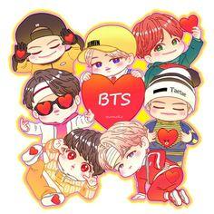K-pop photos - BTS Chibi - According to your request - Bts Chibi, Bts Taehyung, Bts Bangtan Boy, Jimin, Fan Art, Bts Anime, Chibi Wallpaper, Pop Photos, Bts And Exo