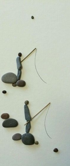 Pebble art by Sharon Nolan.