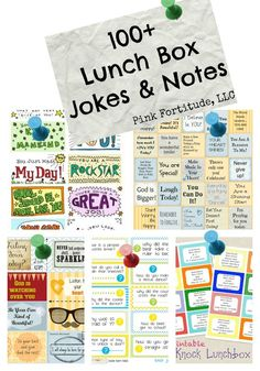 My favorite part of packing Stepson's lunch is adding in a joke or note to his lunch box, and the older he gets, the more stealth I will have to be. I've curated over one hundred jokes and notes you can print for free, cut out, write your own message, and add to your child's lunch box.