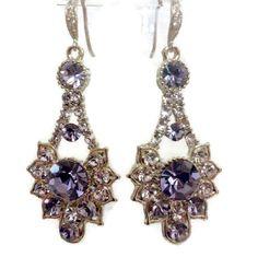 Purple Bridal Earrings Lilac Earrings Gatsby Earrings by YJCouture