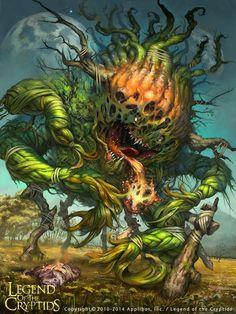 Artist: Simon Dominic - Title: Acid-Spitting Plant Reg - Card: Acid-Spitting Plant