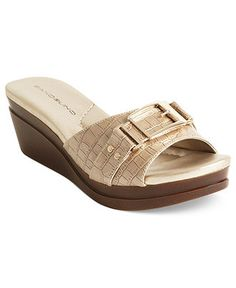 Bandolino Shoes, Yarbo Wedge Slide Sandals - Shoes - Macy's