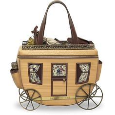 Oh my gosh! How cute is that!? If it didn't cost and arm and a leg I'd buy it in a hot second. Crazy carriage handbag.